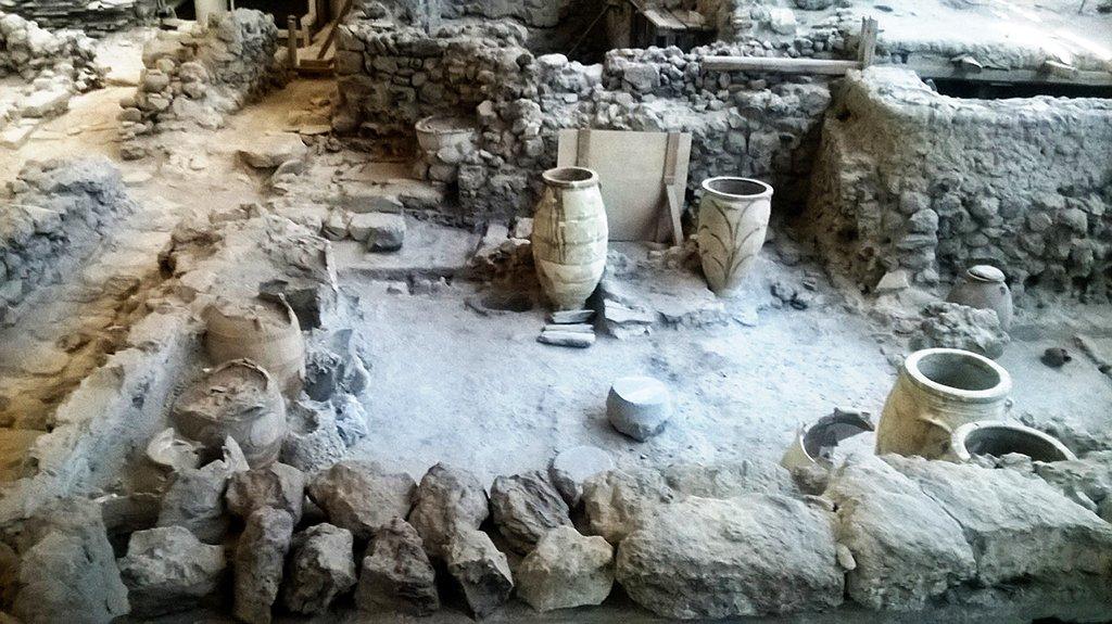 Santorini's Akrotiri Excavated Site