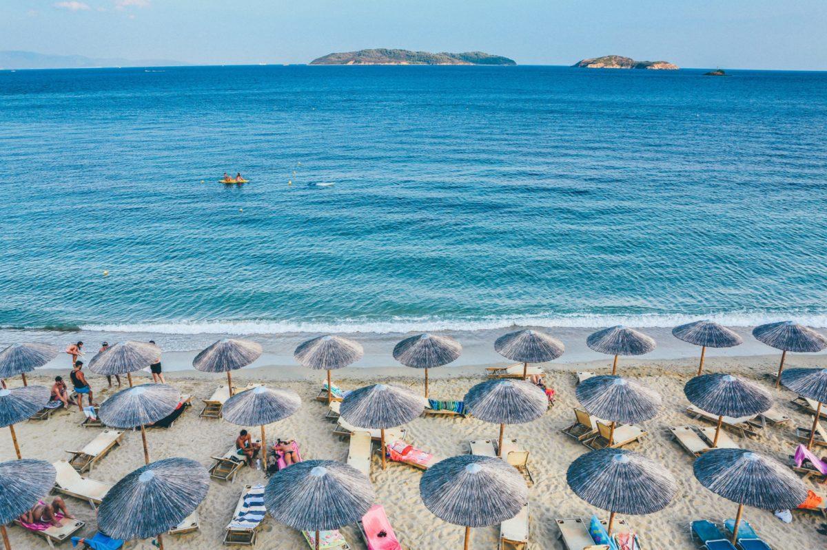 skiathos beach in sporades greece