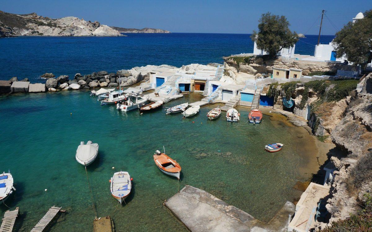 milos island - honeymoon in santorini blog