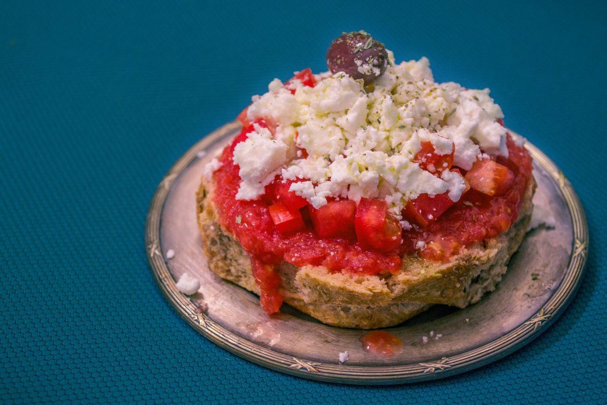 Dakos Greek summer dish