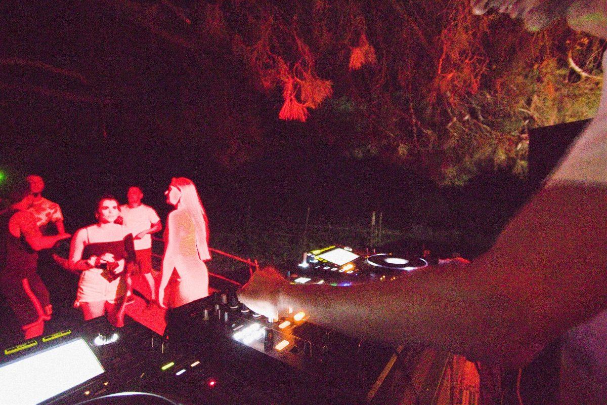DJ'ing at a party on Zakynthos Island